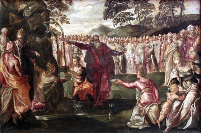 1563_Tintoretto_Moses_Striking_the_Rock_anagoria